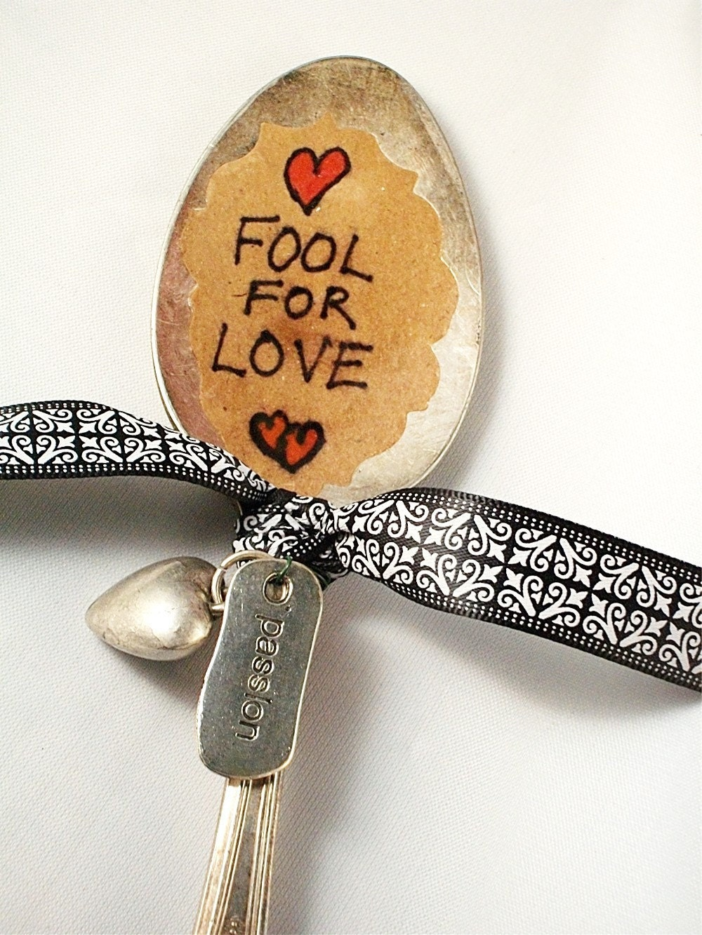 Vintage Silver Spoon Garden Marker Fool For Love