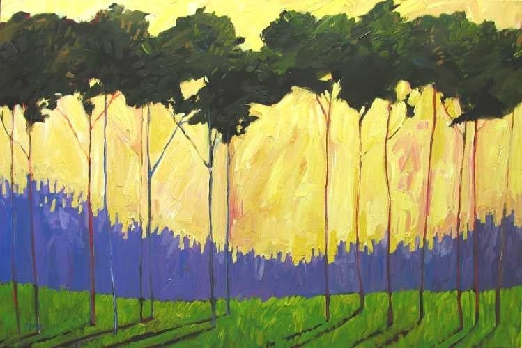 """Tall Green Trees 24x36"""" Commissioned Painting"""