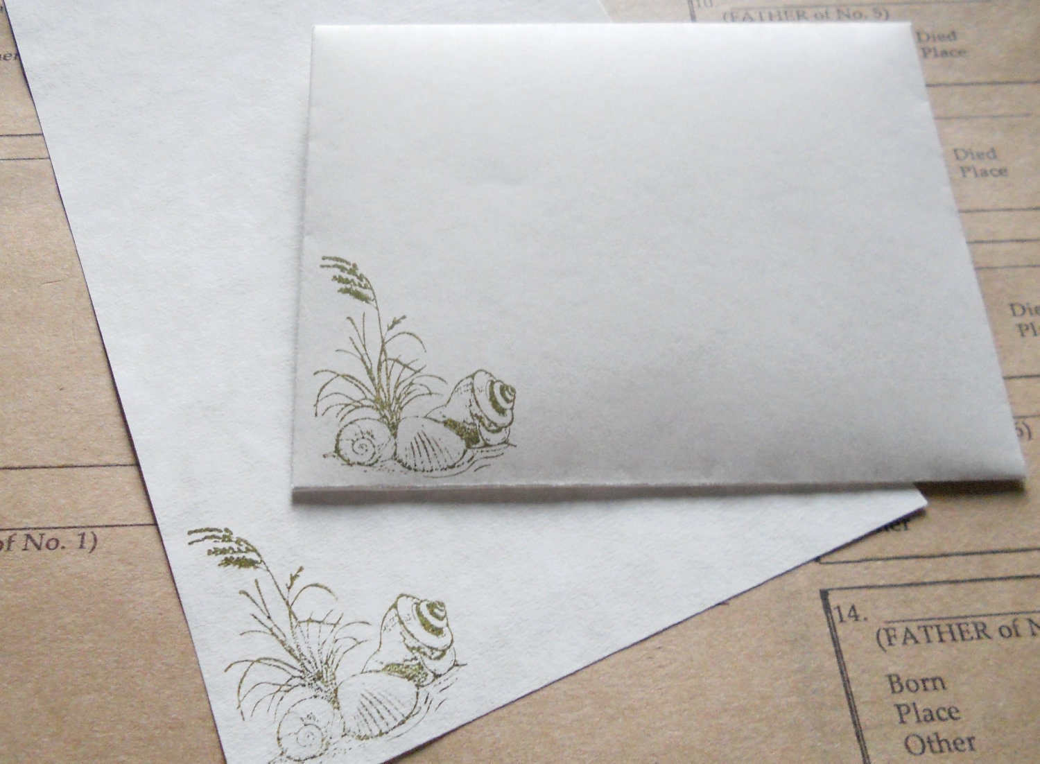 Parchment paper for writing