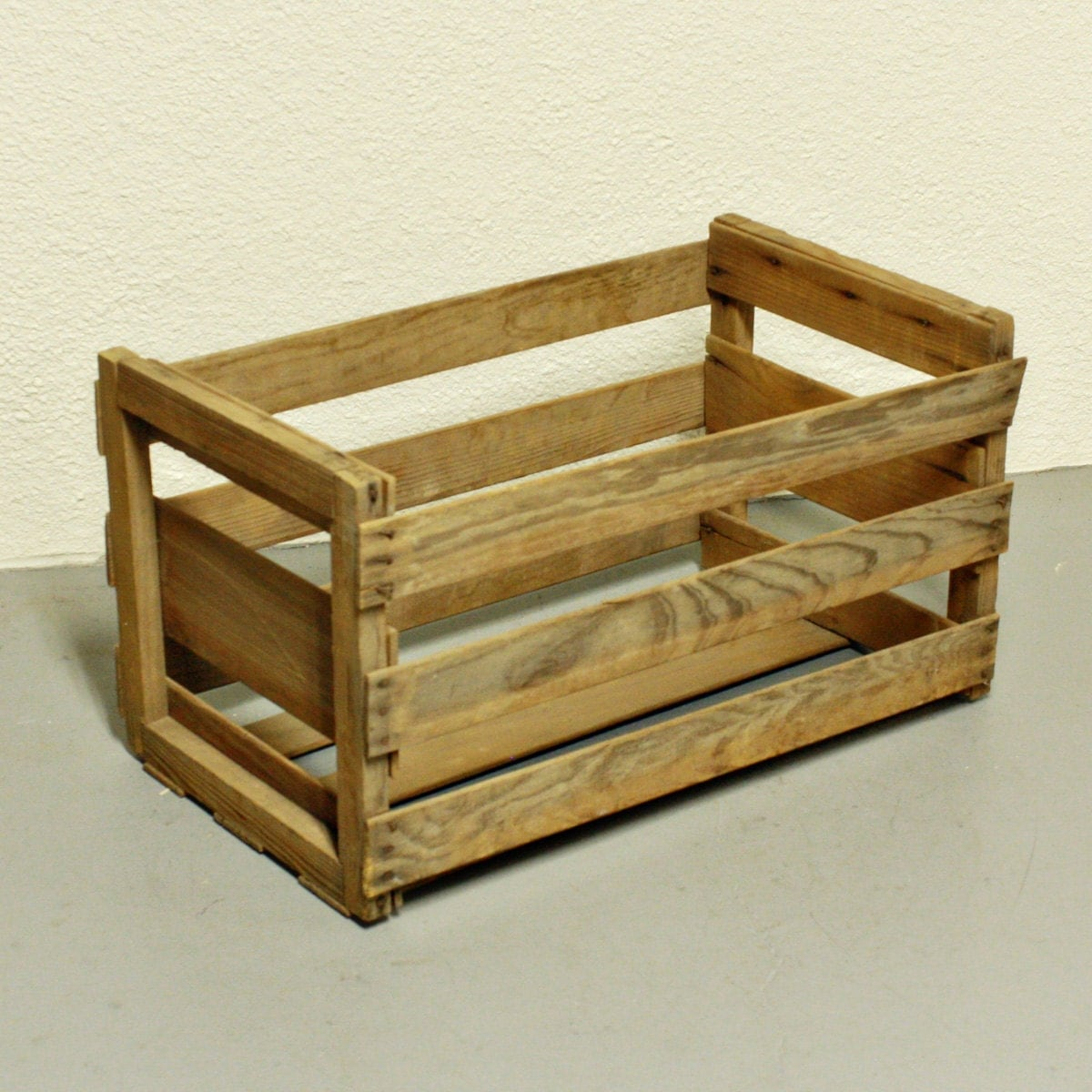 Vintage wood crate wood box fruit crate melon by oldcottonwood for Wooden fruit crates
