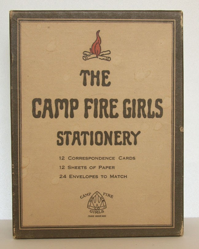 Vintage 1920s Campfire Girls Stationery Set in Original Box