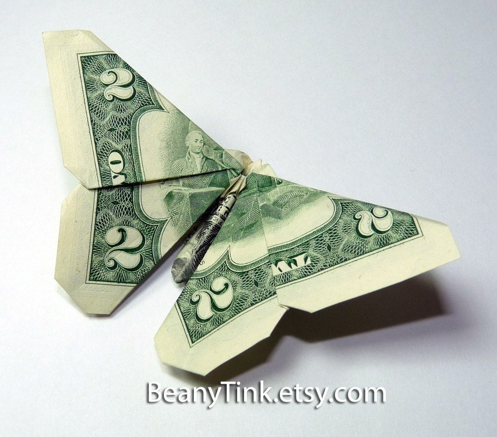 ORIGAMI BUTTERFLY DOLLAR « EMBROIDERY & ORIGAMI - photo#8