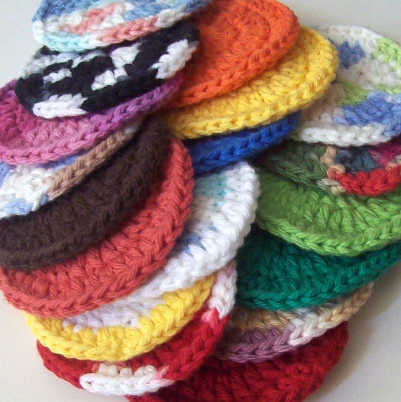 Crochet Grab Bag Pattern : On Etsy Cotton Crochet Face Scrubbies Grab Bag by HCKCrafts