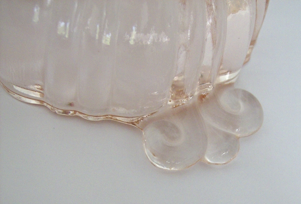 Pale Pink Depression Glass dish