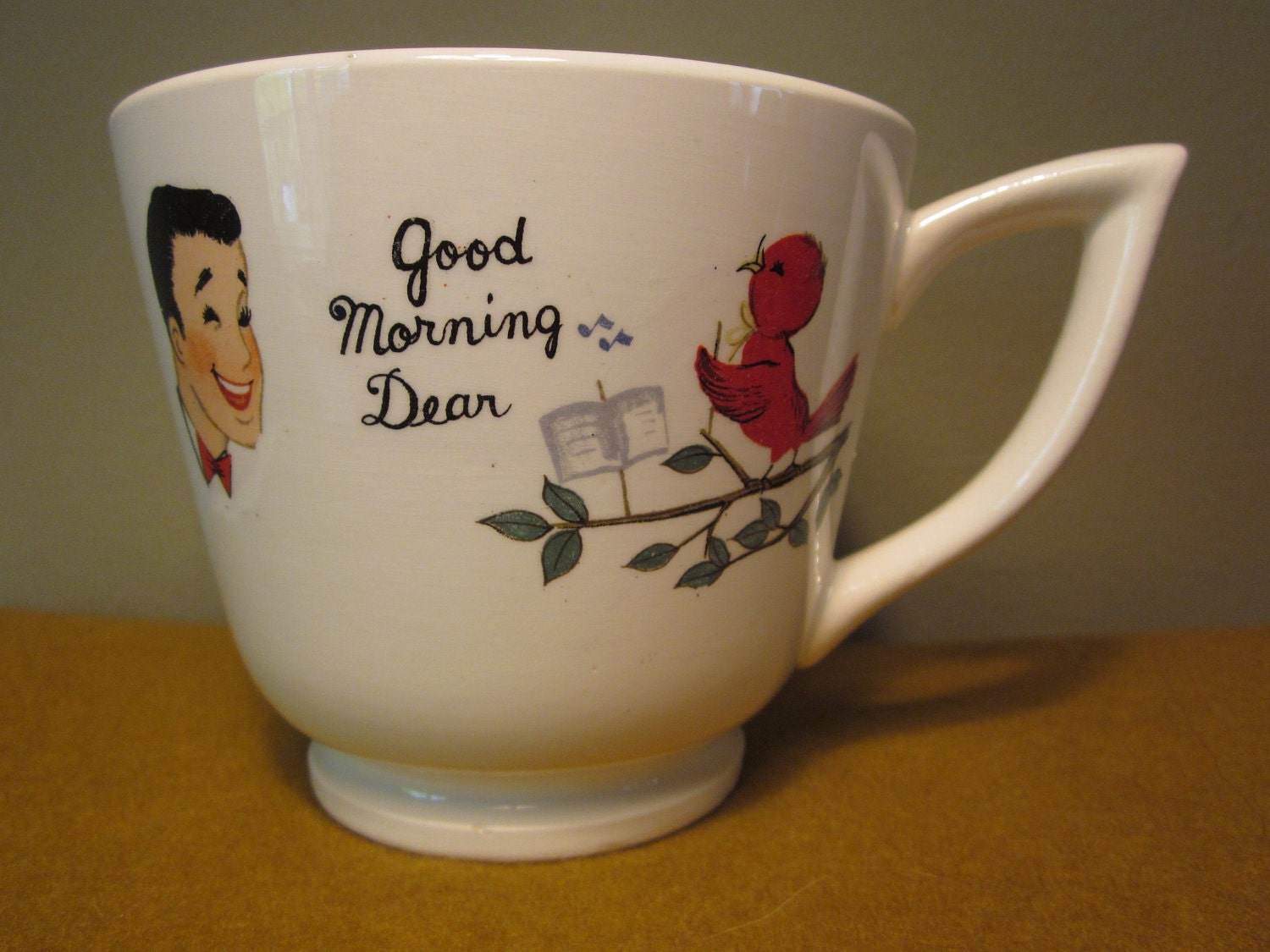 Good Morning Vintage Photos : Vintage oversized good morning dear and by