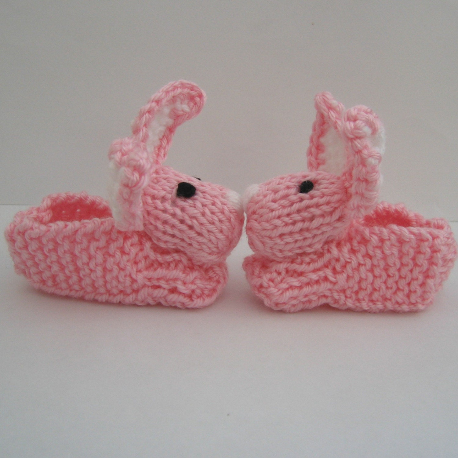 Itty Bitty Baby Pink Bunny Slippers - 0 to 6 month size