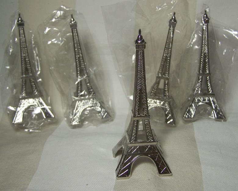 eiffel tower cupcake cake toppers by yummynummynails on etsy