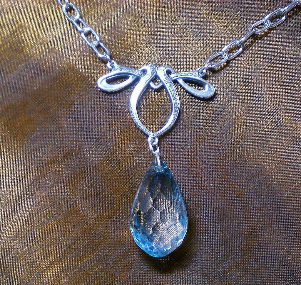 Rain Drop Necklace - As seen on Etsy Front Page