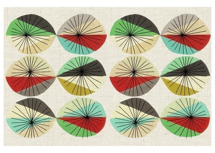 Orbital - graphic mod pattern giclee print