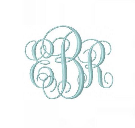 Monogram fonts free download interlocking