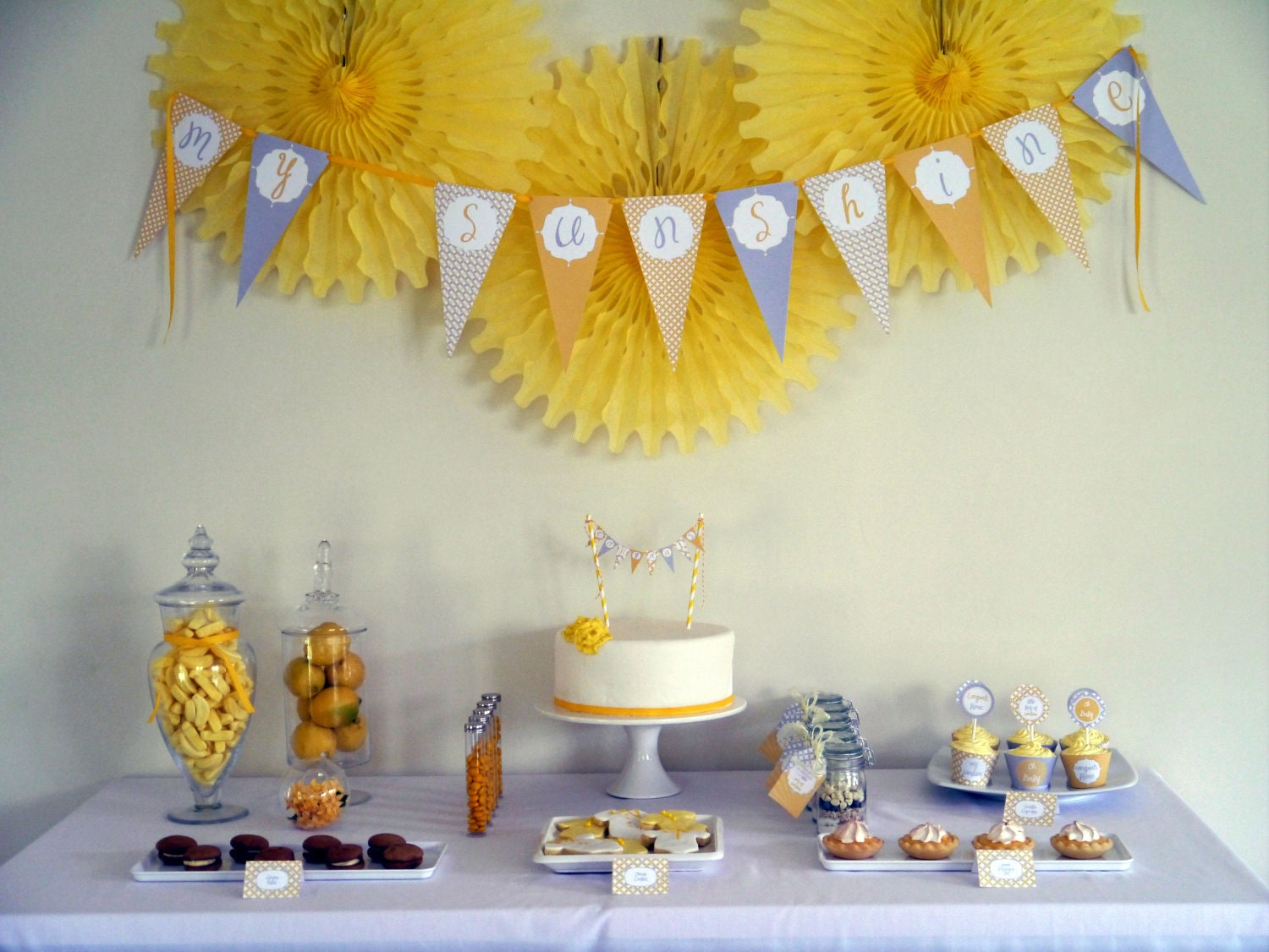 sunshine baby shower complete printable collection