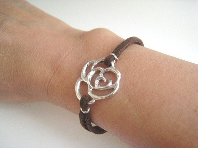 Rose Collection Leather Bracelet
