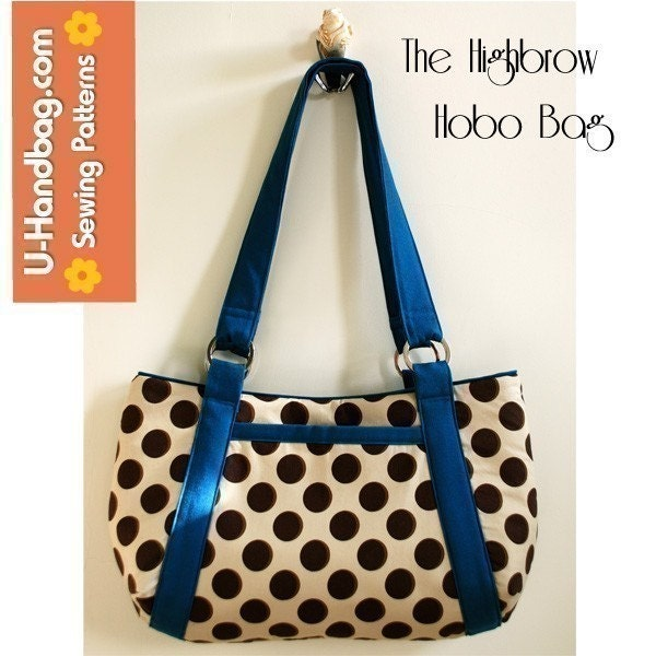PDF SEWING PATTERN - The Highbrow Hobo Bag