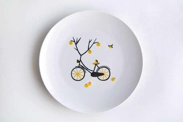 Apple tree bicycle plate