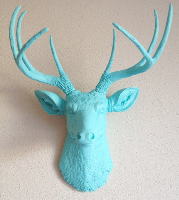 Baby Blue Deer Head Wall Mount