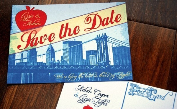 Vintage New York NYC Save the Date