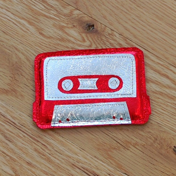 Geek Love - Red Cassette Tape Card Holder