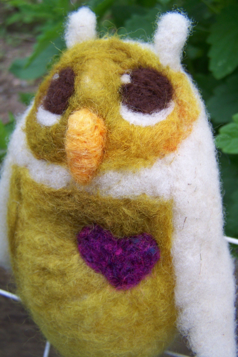 Little Hoot No. 35- needle felted owlette