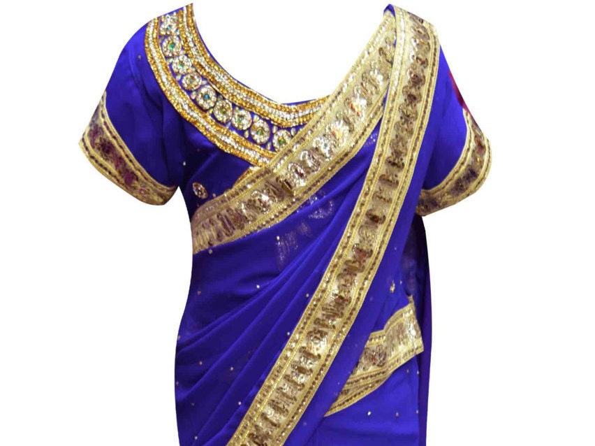 Children Indian traditional kids wedding BLUE girl sarees ideal for Bollywood Party wear online shops sheffield Hudderfield London UK 1201