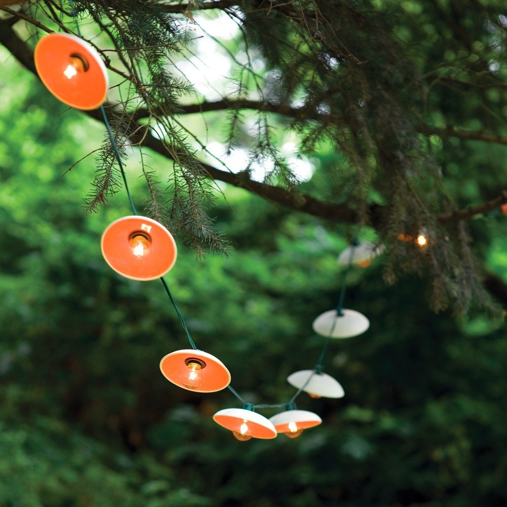 Disc String Lights in Citrus / SAMPLE SALE