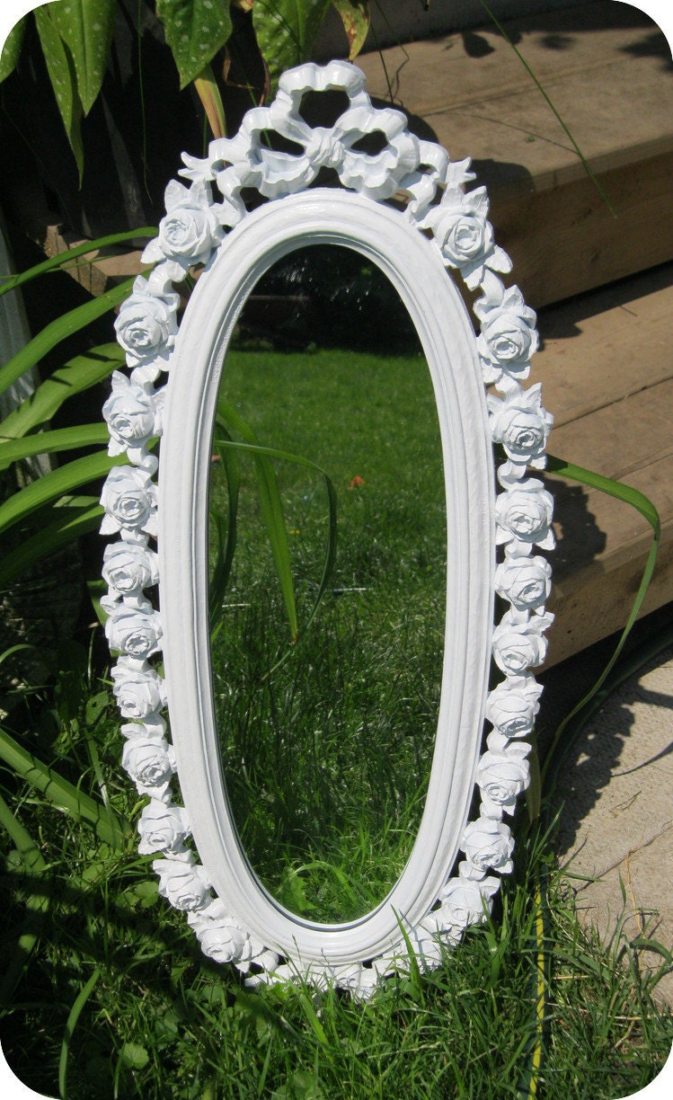 Upcycled Vintage Rose Mirror - ON SALE