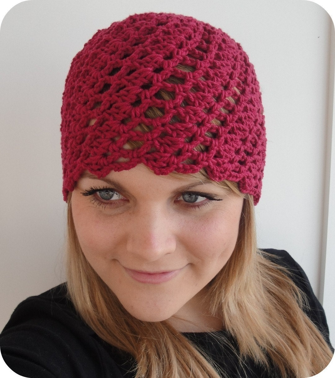 Crochet PATTERN Beanie Cloche HAT Swirled Shells by ...