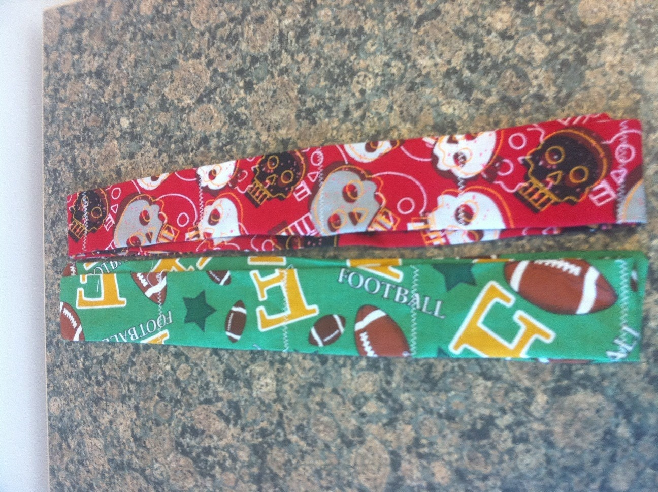 2 cool neck bands football and skulls to benefit American Cancer Society