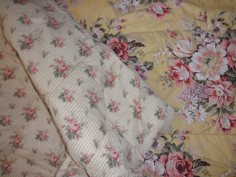 Vintage Ralph Lauren Floral Cotton Comforter Full By