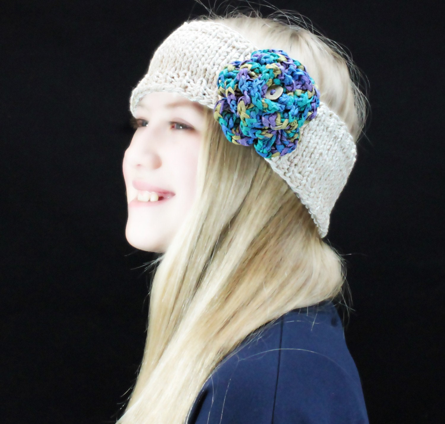 Eco Friendly Organic Cotton and Bamboo Headband - Medium - Free Shipping to USA