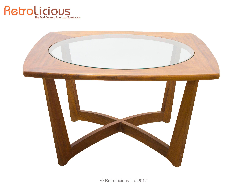 Danish Teak  Glass Coffee Table Retro Mid Century Living