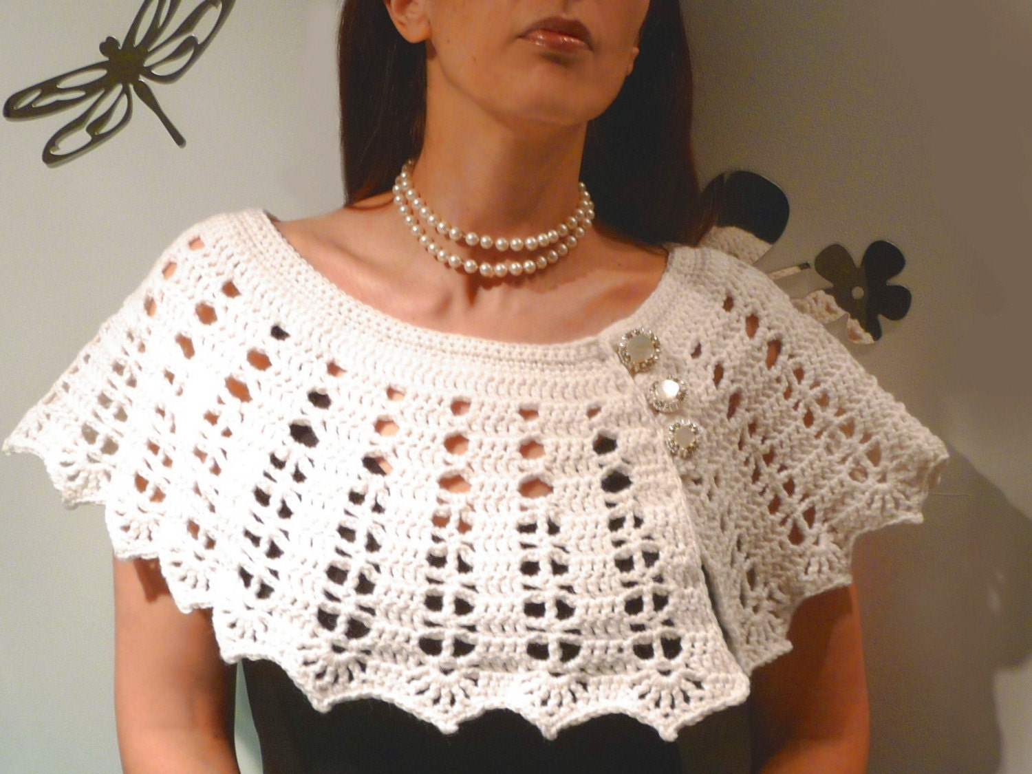 MILKY WAY - capelet/shoulderette
