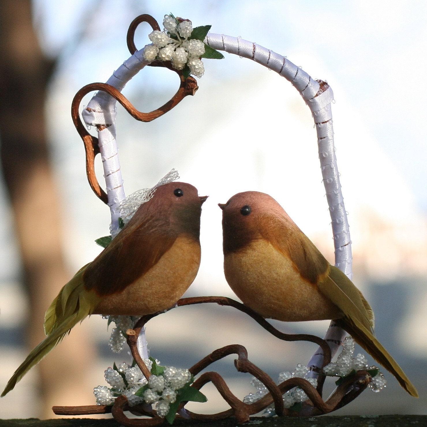 Lovebirds Wedding Cake Topper