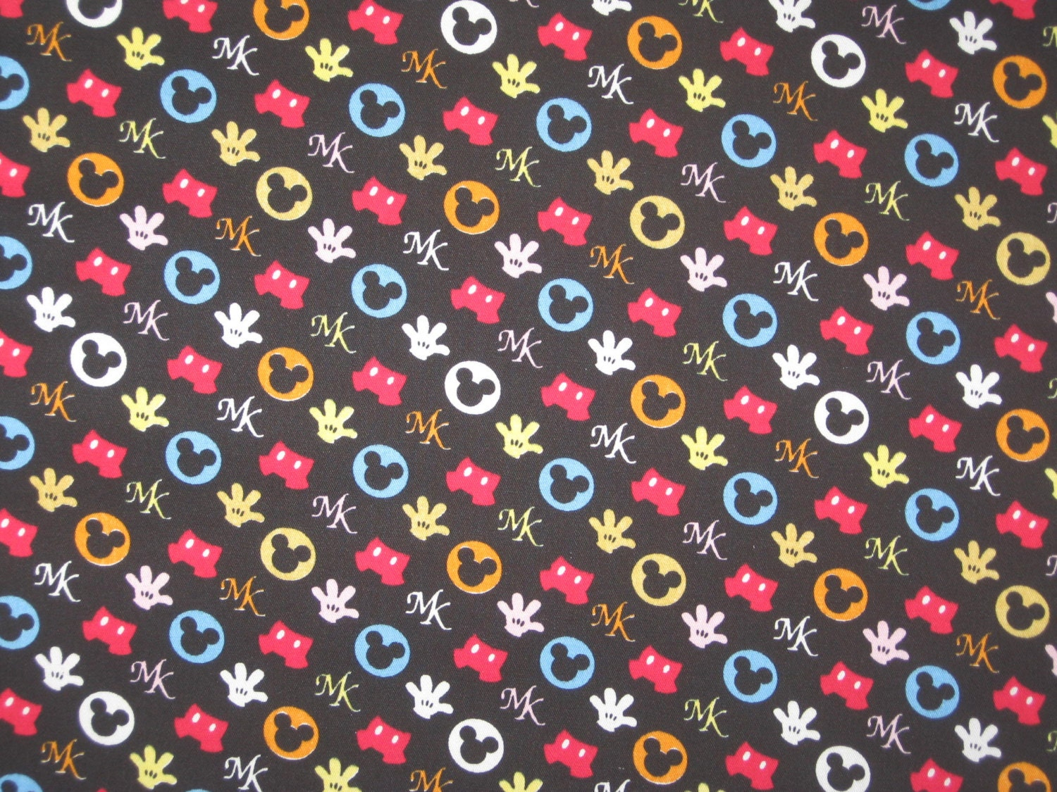 Mickey Mouse hands pants and ears on black Japan by ...