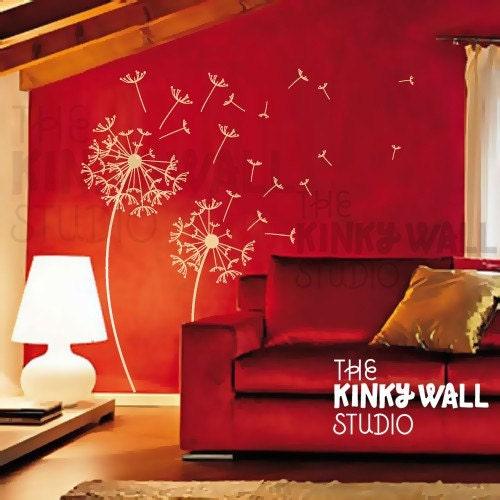 Dandelions - sophisticated vinyl sticker wall decal - KK115