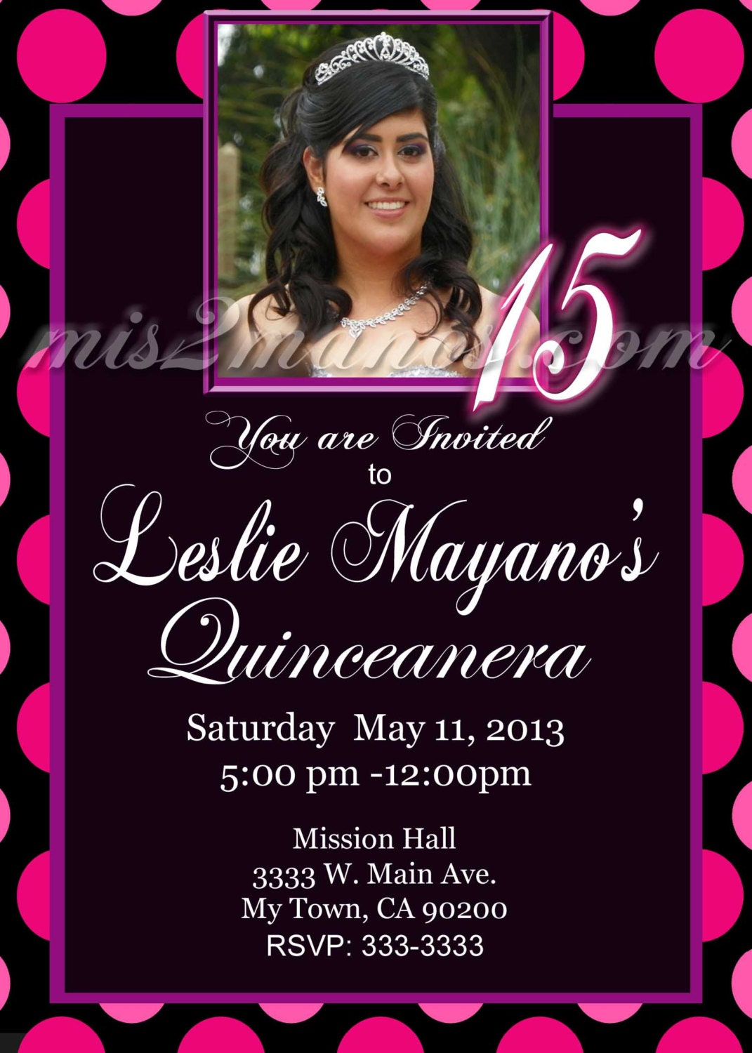 Quinceanera Invitations Spanish is great invitation template