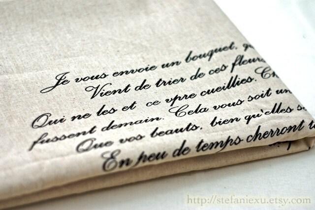 Unique Linen Collection-Vintage Love Letter (23x24 inches)