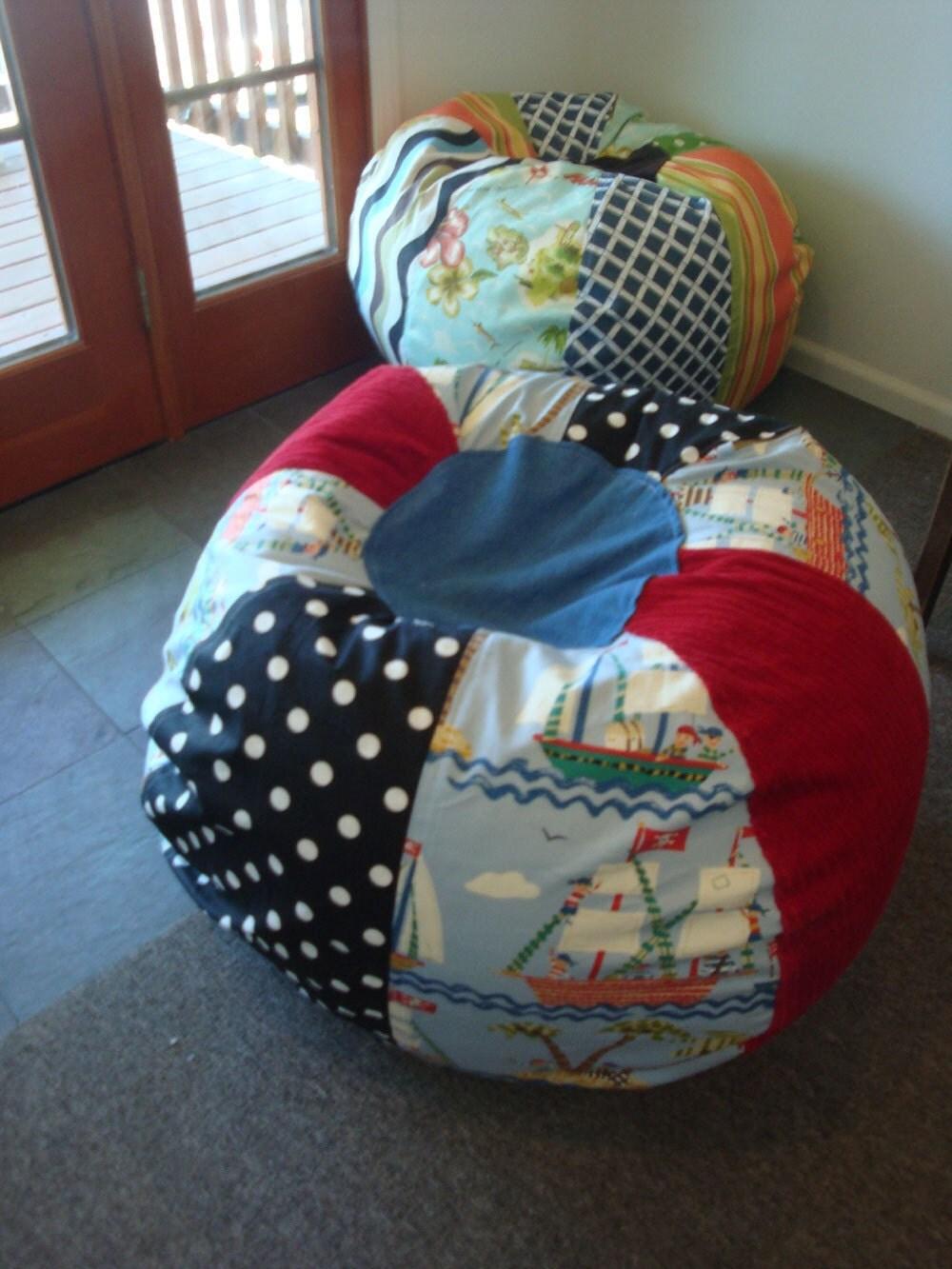 Fun Children S Pirate Bean Bag Chair By Paniolo On Etsy