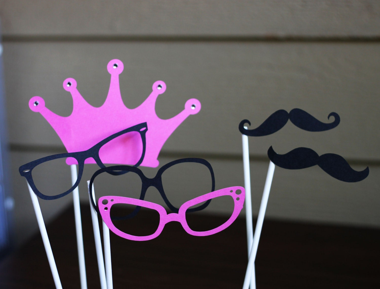 Set of 6 punk princess photobooth/photo prop set