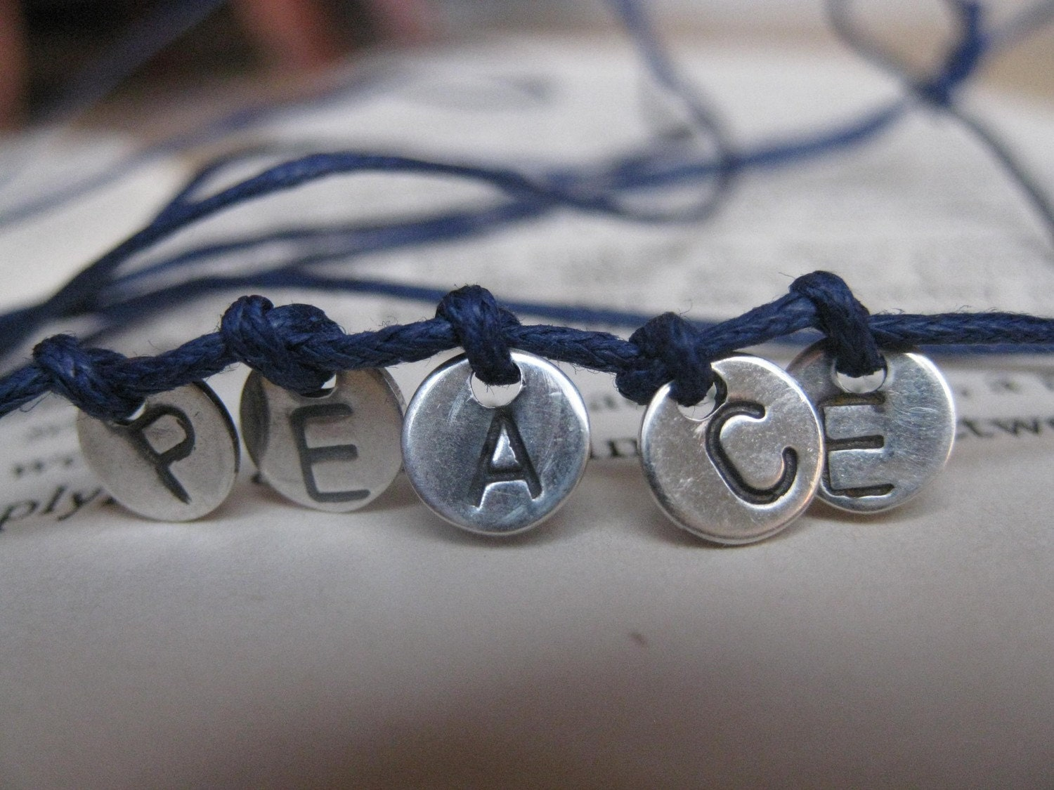 PEACE wrap around bracelet