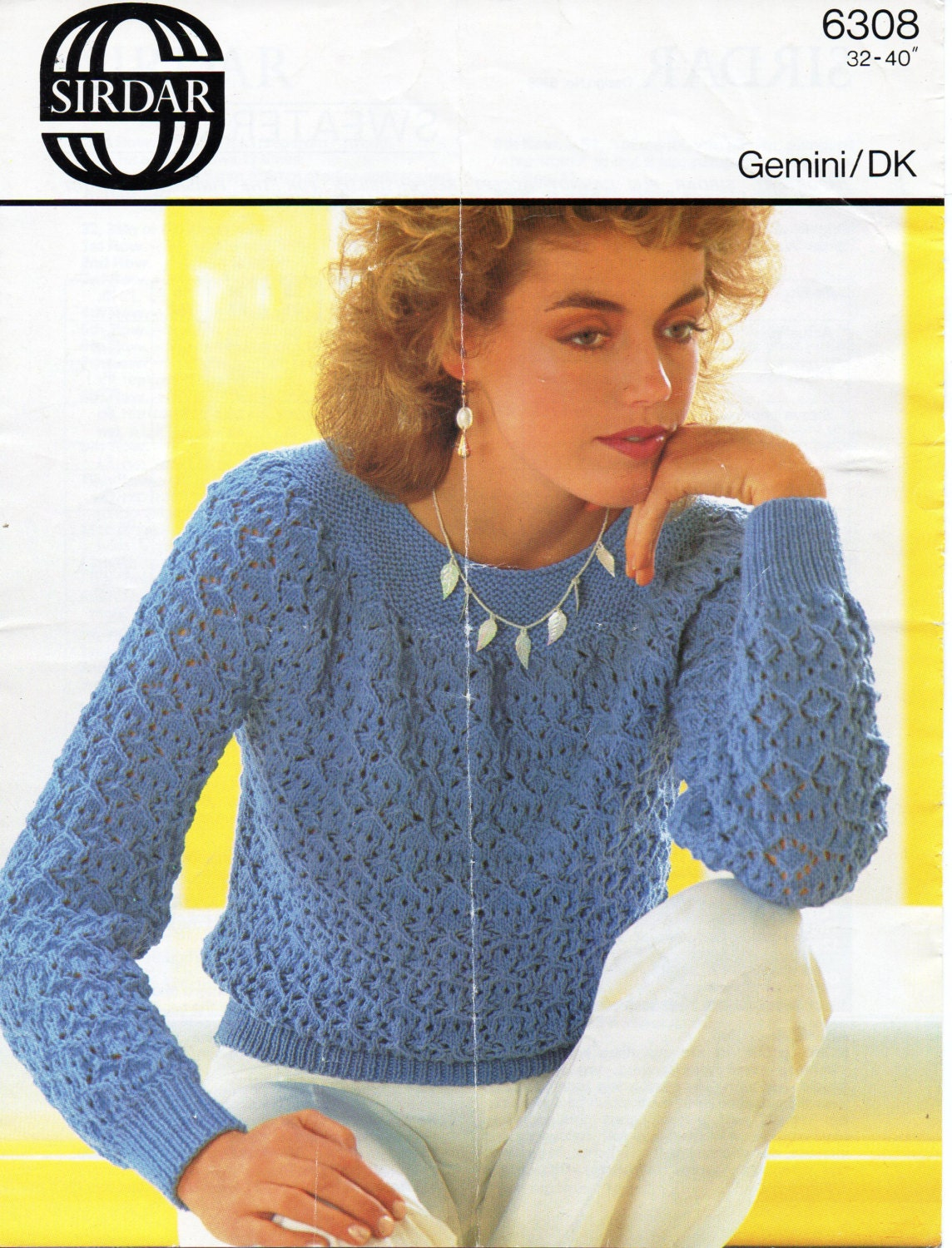 womens lacy sweater knitting pattern 3240 inch DK womens knitting pattern PDF instant download