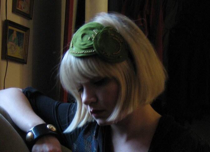 art deco inspired headband/head decoration large version