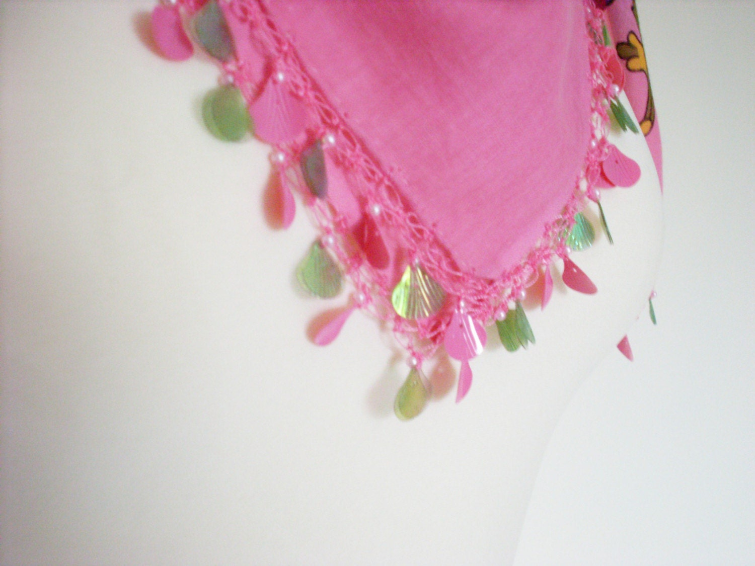 Rose flower YAZMA scarf