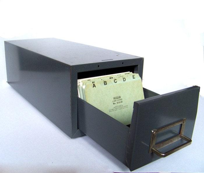 Vintage A to Z File Drawer