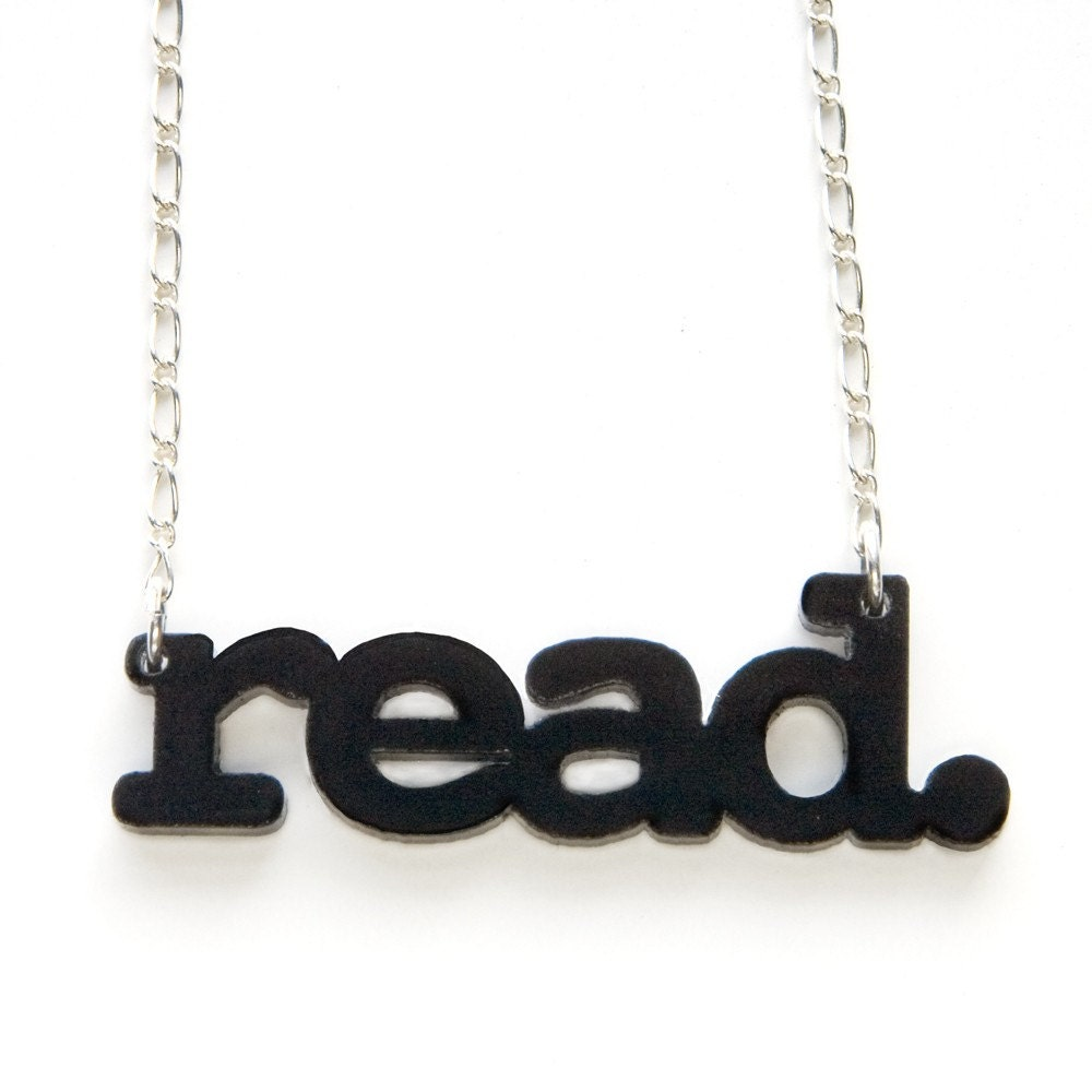 read. necklace