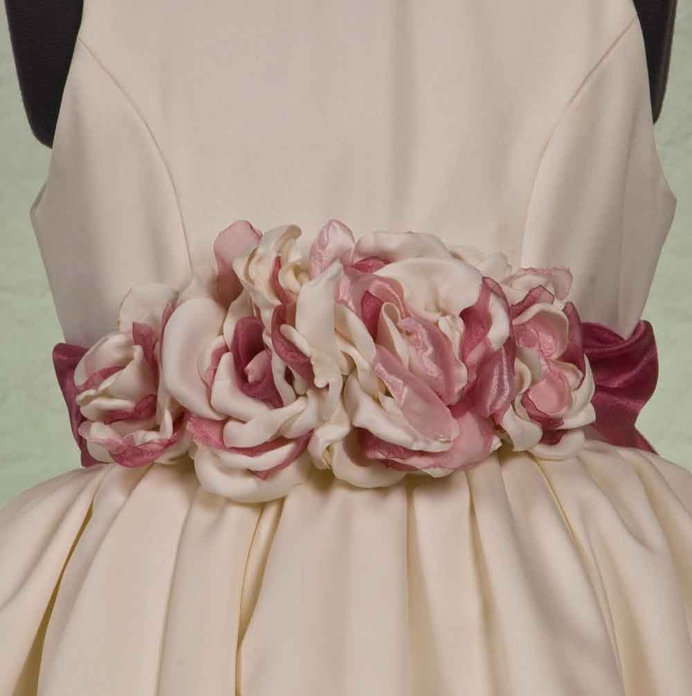 Bustled Flower Girl Dress
