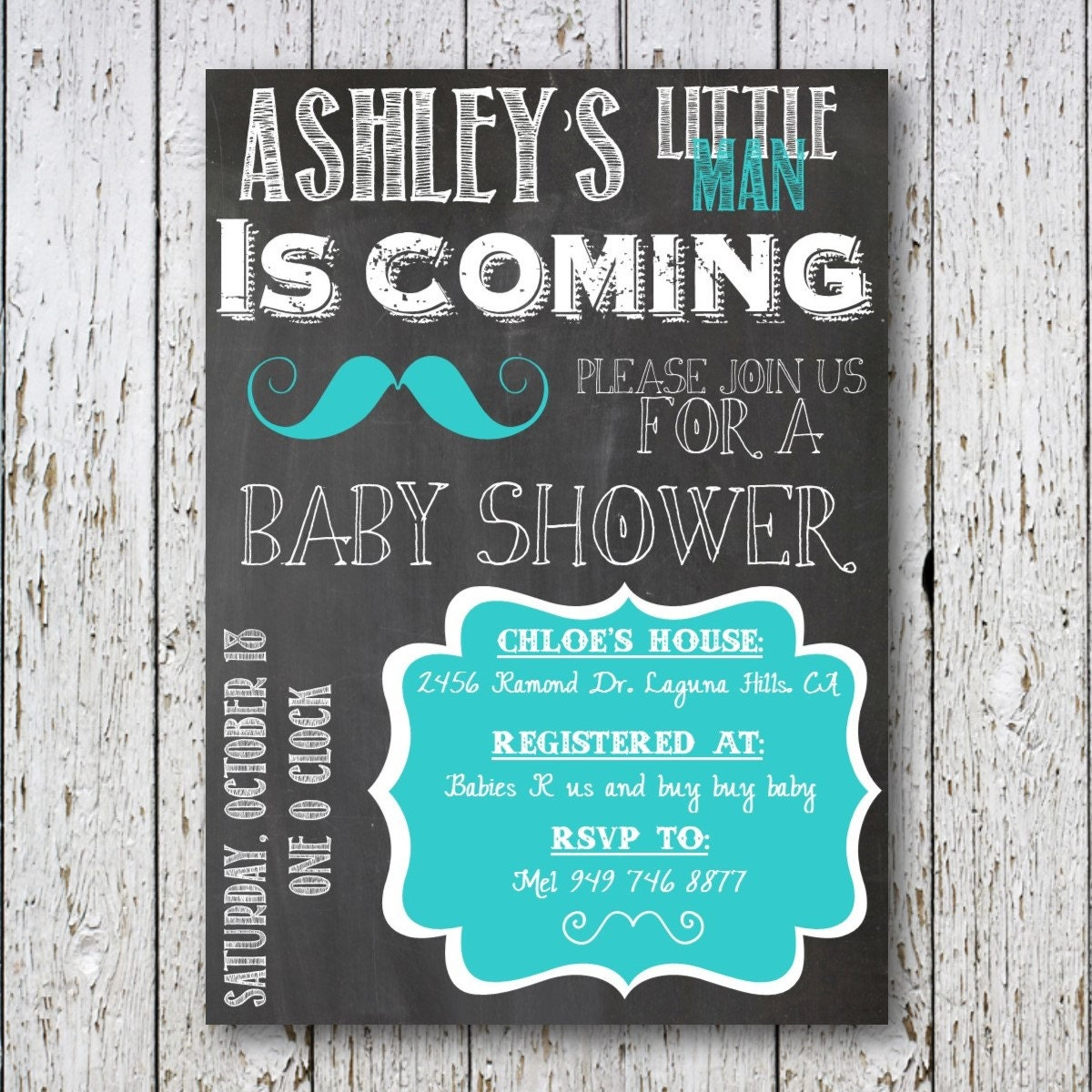 little man mustache baby shower invitation by simpledevinedesign