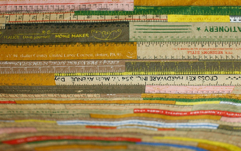 Vintage Rulers in Antique Illus on Cotton WIDE 150cm, U2686
