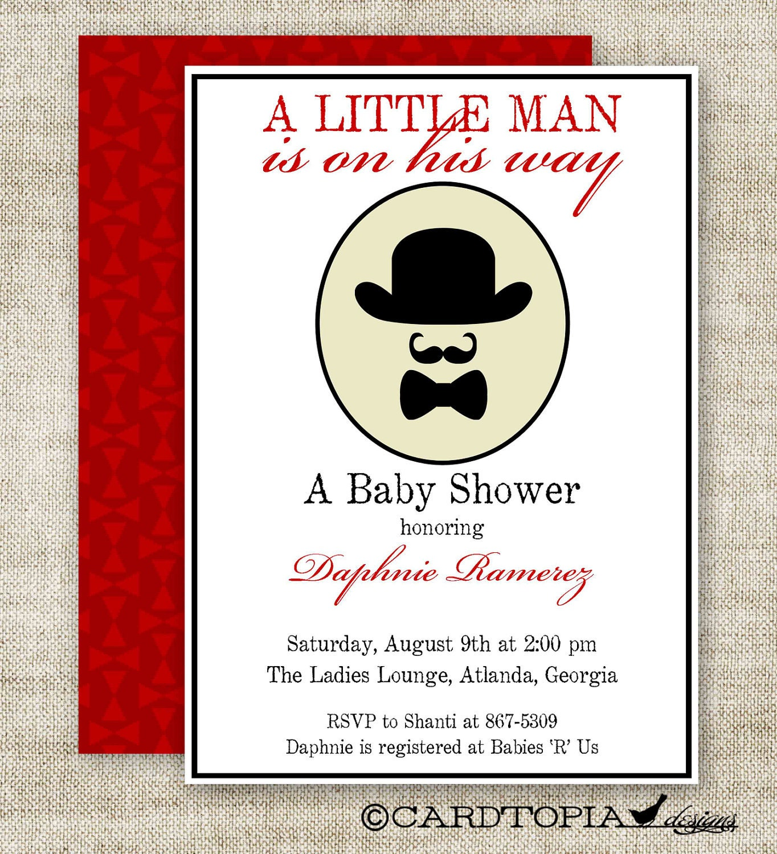 little man mustache bow tie boy baby shower by cardtopiacompany