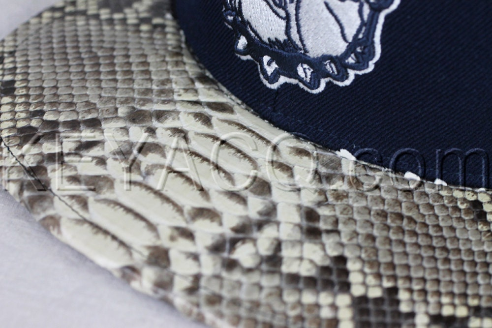 e9b9b941c No.198 — Georgetown Hoyas with Authentic Python Belly and Dark Blue ...