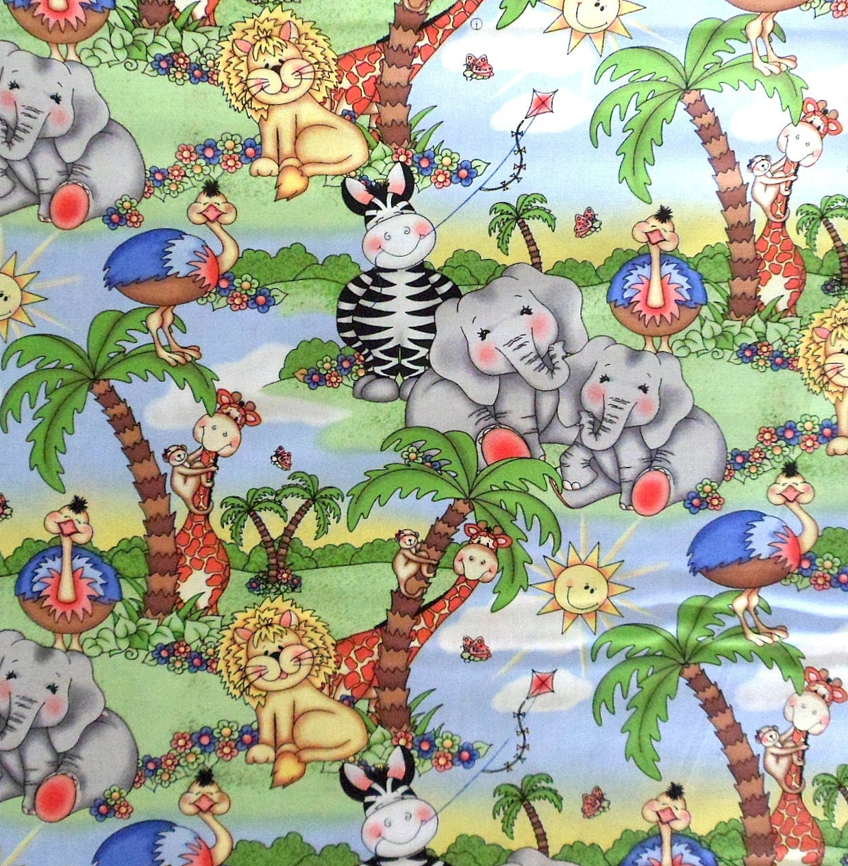 Jungle print fabric bing images for Childrens jungle print fabric